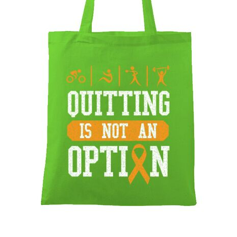 Sacosa din panza Quitting is not an option Verde mar