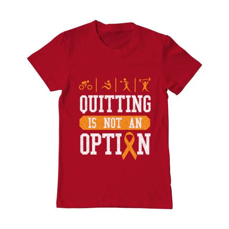 Tricou ADLER barbat Quitting is not an option Rosu
