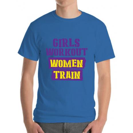 Tricou ADLER barbat Women train Albastru azuriu