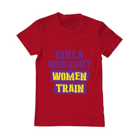 Tricou ADLER barbat Women train Rosu