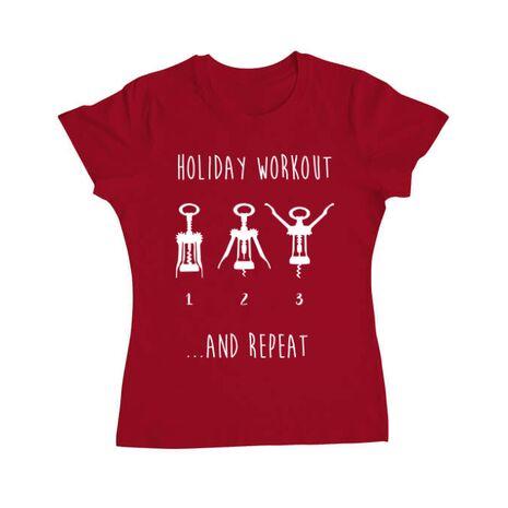 Tricou ADLER dama Holiday workout Rosu