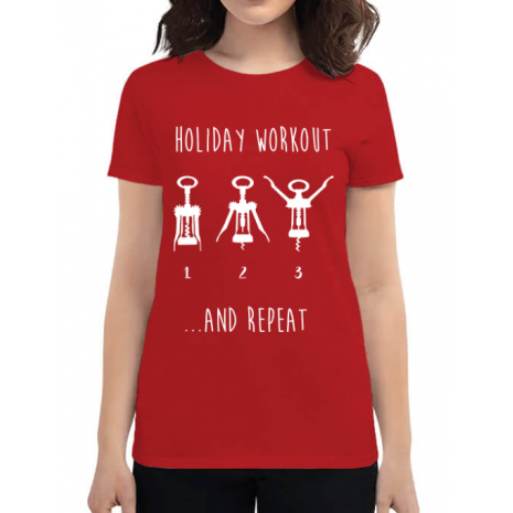 Tricou ADLER dama Holiday workout Rosu