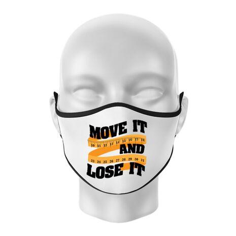 Masca personalizata reutilizabila Move it and lose it Alb