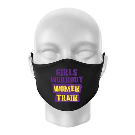Masca personalizata reutilizabila Women train Negru