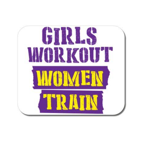 Mousepad personalizat Women train Alb