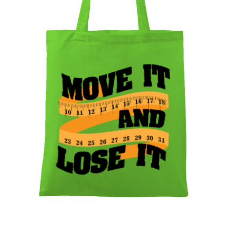 Sacosa din panza Move it and lose it Verde mar