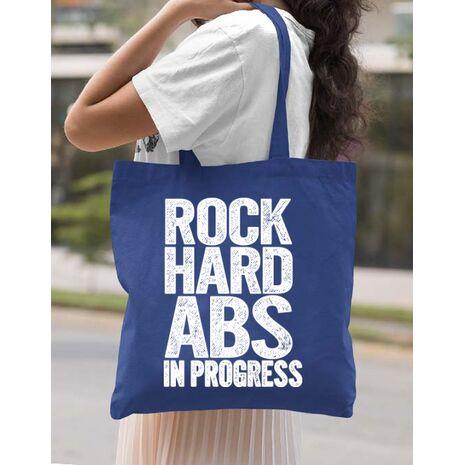 Sacosa din panza Rock hard abs Albastru regal