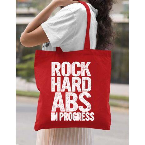 Sacosa din panza Rock hard abs Rosu