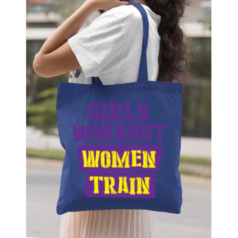 Sacosa din panza Women train Albastru regal
