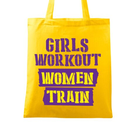 Sacosa din panza Women train Galben