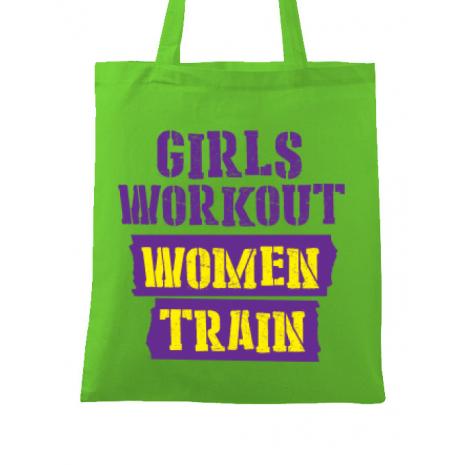 Sacosa din panza Women train Verde mar