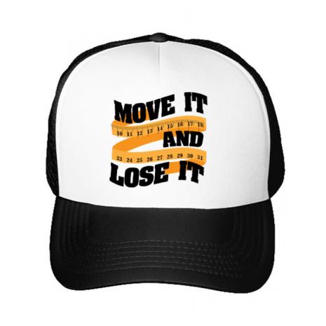 Sapca personalizata Move it and lose it Alb