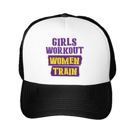 Sapca personalizata Women train Alb