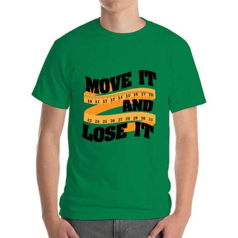 Tricou ADLER barbat Move it and lose it Verde mediu