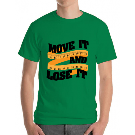 Tricou ADLER barbat Move it and lose it Verde mediu