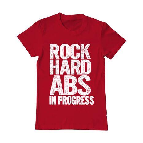 Tricou ADLER barbat Rock hard abs Rosu