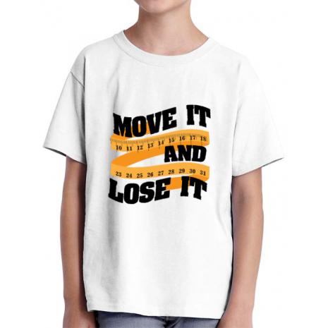 Tricou ADLER copil Move it and lose it Alb