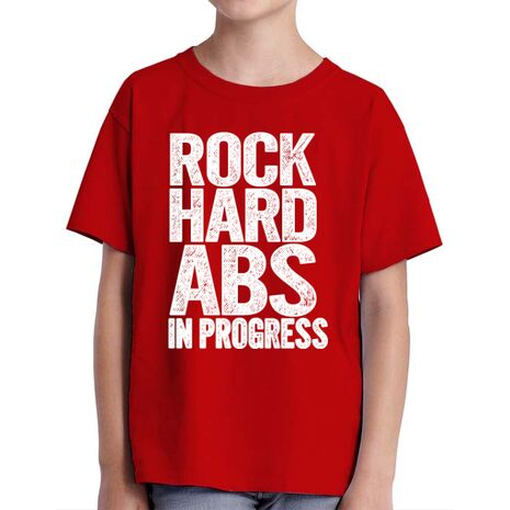 Tricou ADLER copil Rock hard abs Rosu