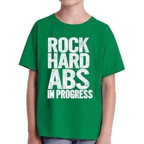 Tricou ADLER copil Rock hard abs Verde mediu