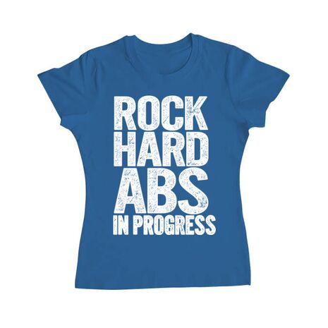 Tricou ADLER dama Rock hard abs Albastru azuriu
