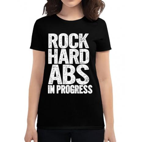 Tricou ADLER dama Rock hard abs Negru