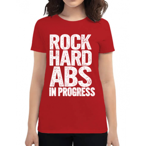Tricou ADLER dama Rock hard abs Rosu