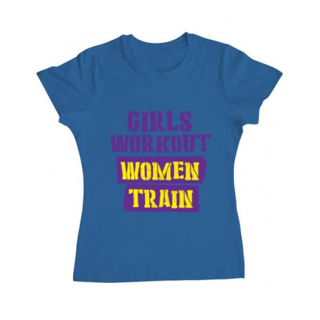 Tricou ADLER dama Women train Albastru azuriu
