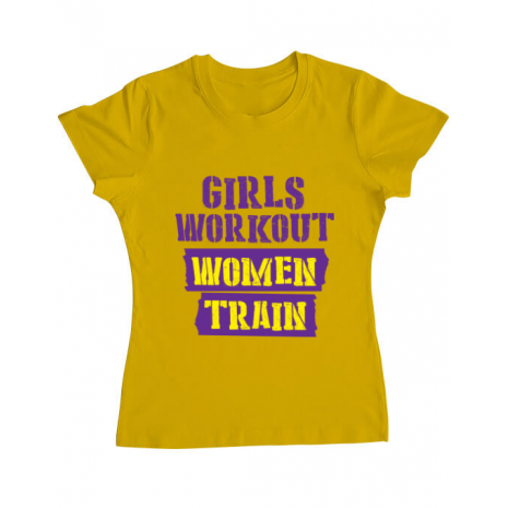 Tricou ADLER dama Women train Galben