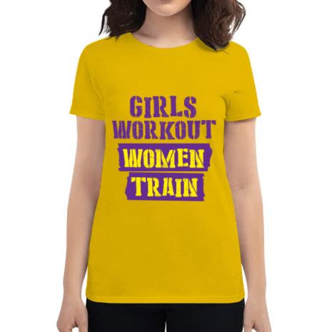 Tricou ADLER dama Women train Galben