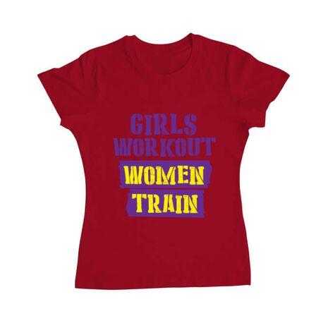 Tricou ADLER dama Women train Rosu