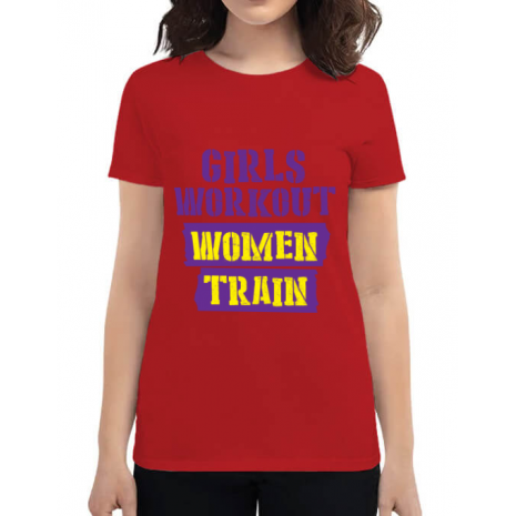 Tricou ADLER dama Women train Rosu