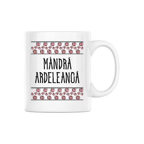 Cana personalizata Mandra ardeleanca Alb