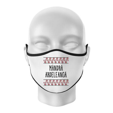 Masca personalizata reutilizabila Mandra ardeleanca Alb