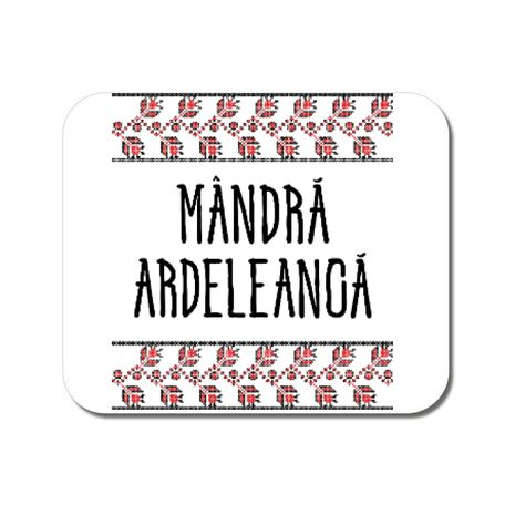 Mousepad personalizat Mandra ardeleanca Alb