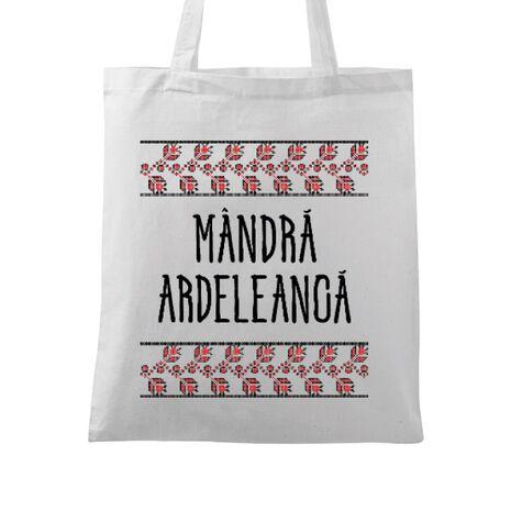 Sacosa din panza Mandra ardeleanca Alb