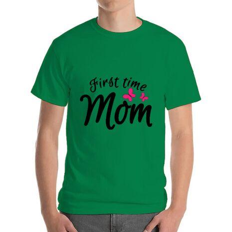 Tricou ADLER barbat First time mom Verde mediu