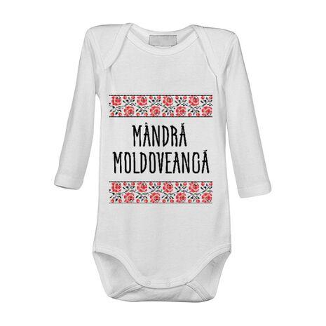 Baby body Mandra moldoveanca Alb