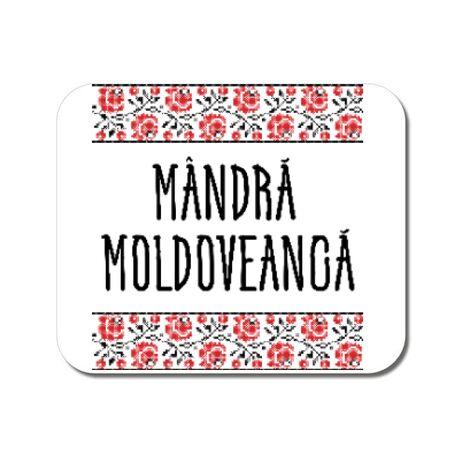 Mousepad personalizat Mandra moldoveanca Alb