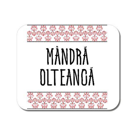 Mousepad personalizat Mandra olteanca Alb