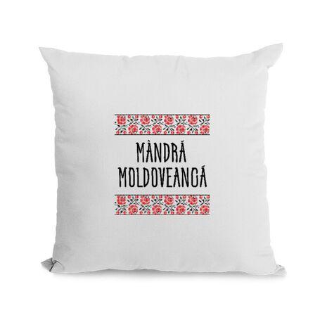 Perna personalizata Mandra moldoveanca Alb