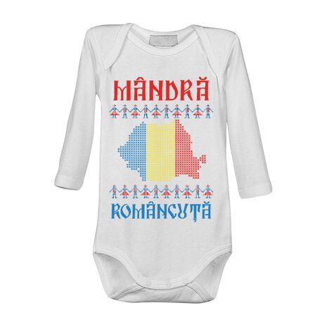Baby body Mandra romancuta Alb