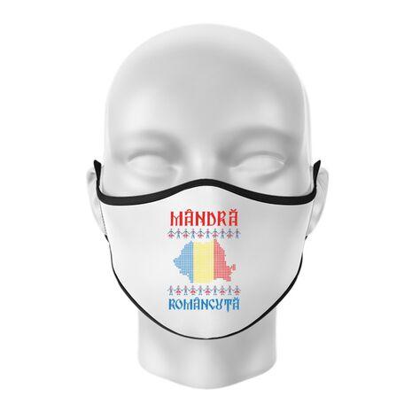 Masca personalizata reutilizabila Mandra romancuta Alb
