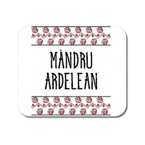 Mousepad personalizat Mandru ardelean Alb