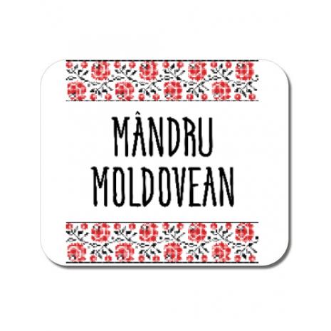 Mousepad personalizat Mandru moldovean Alb