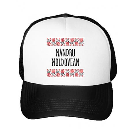 Sapca personalizata Mandru moldovean Alb