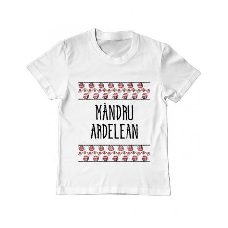 Tricou ADLER copil Mandru ardelean Alb