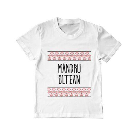 Tricou ADLER copil Mandru oltean Alb