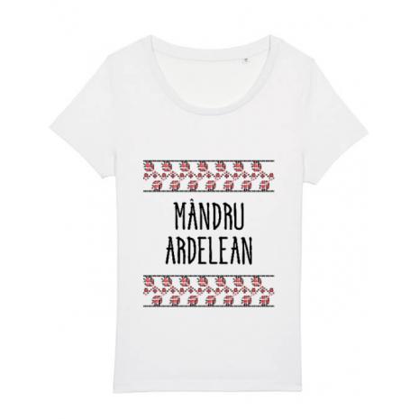 Tricou STANLEY STELLA dama Mandru ardelean Alb