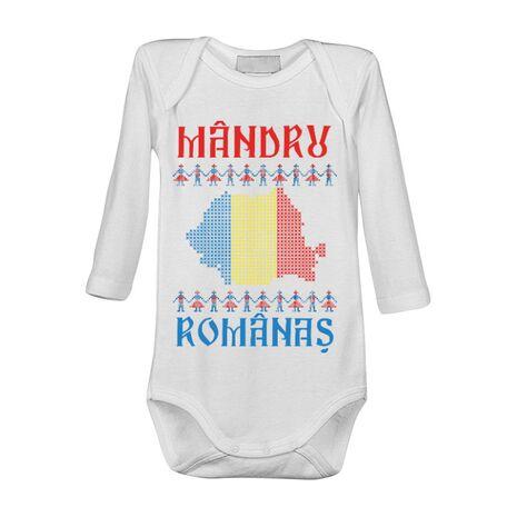 Baby body Mandru romanas Alb