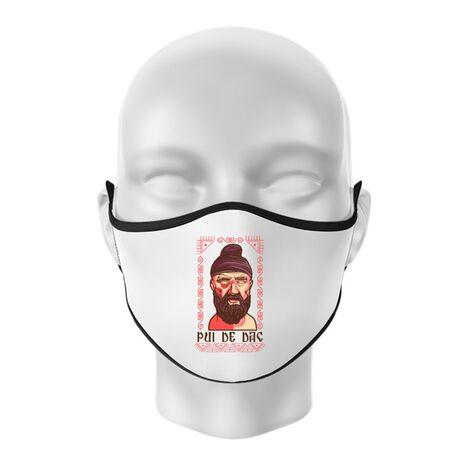 Masca personalizata reutilizabila Pui de dac Alb
